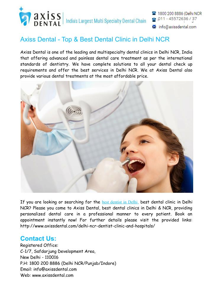 Axiss Dental - Top & Best Dental Clinic in Delhi NCR