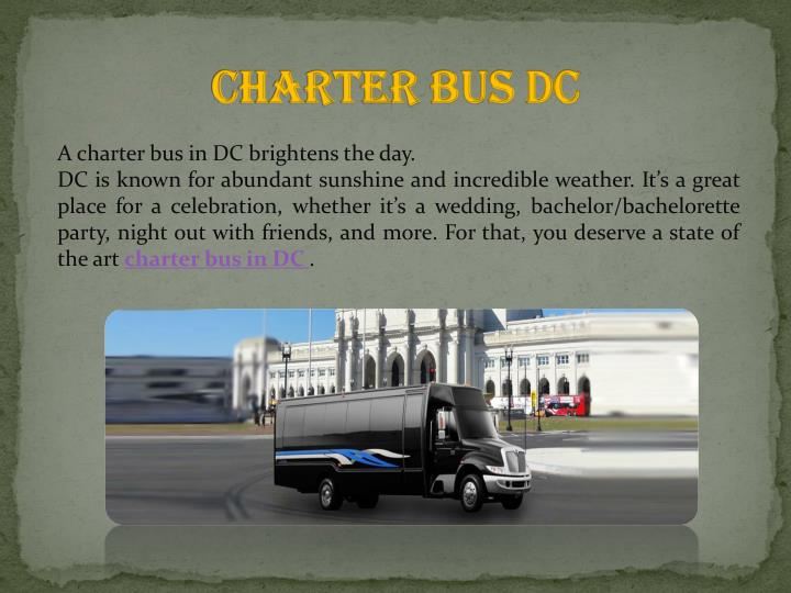 Charter bus dc