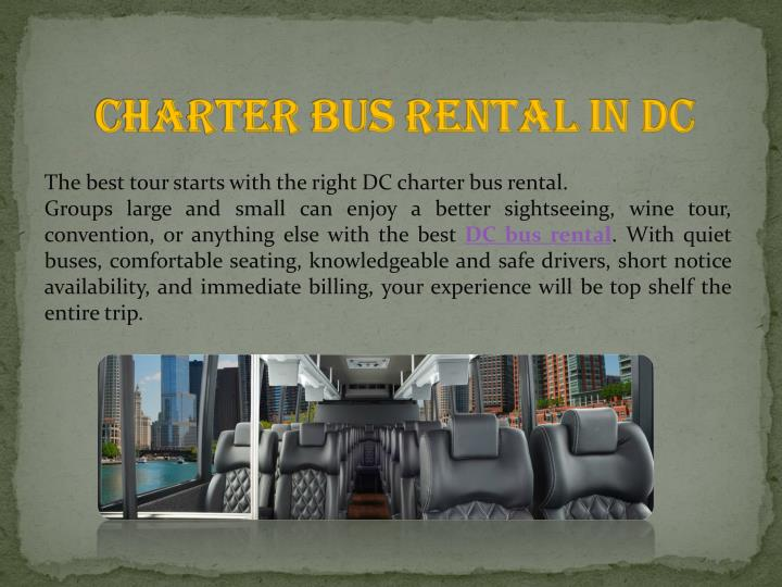 Charter Bus Rental in DC