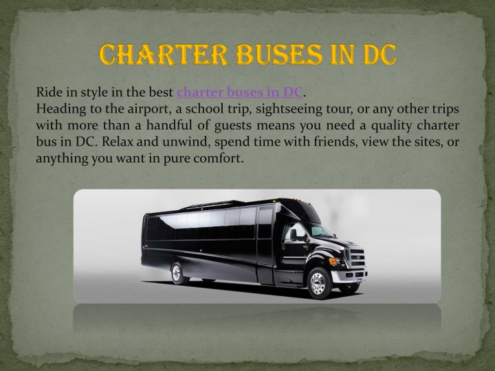 Charter Buses in DC
