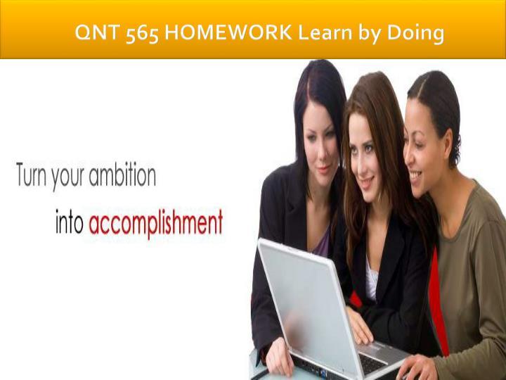 QNT 565 HOMEWORK