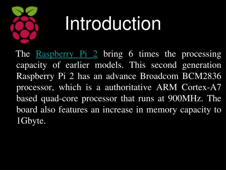 Raspberry pi ppt download