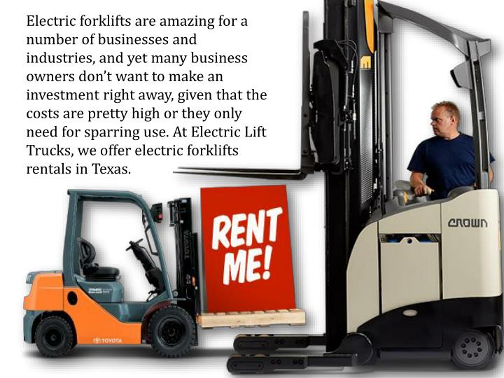 Electric forklifts are amazing for a number of businesses and industries, and yet many business owne...
