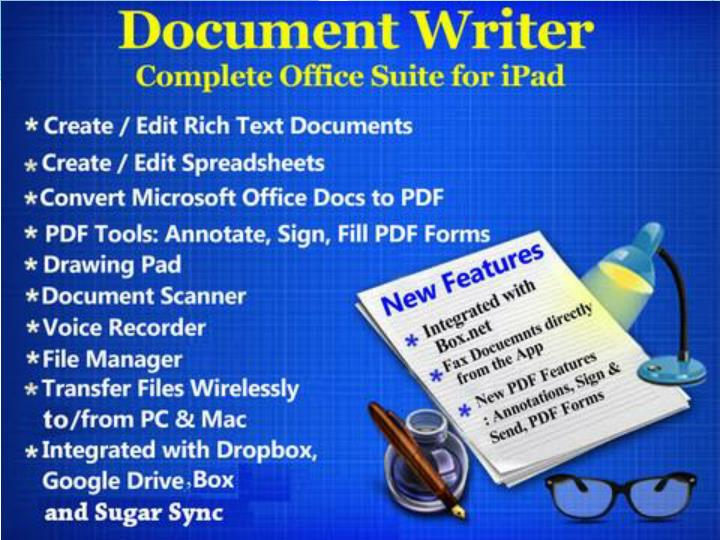 Document writer word processor and reader for microsoft office 7335629