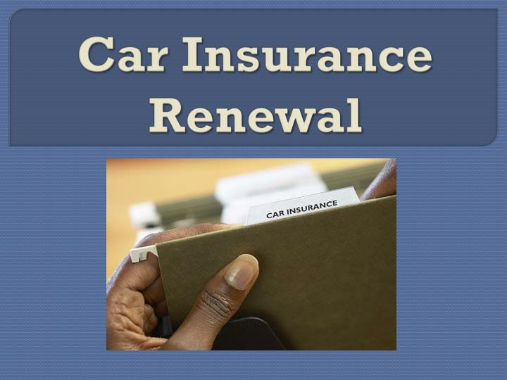 car insurance renewal