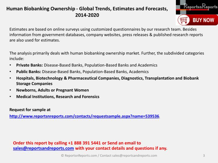 Human biobanking ownership global trends estimates and forecasts 2014 20202