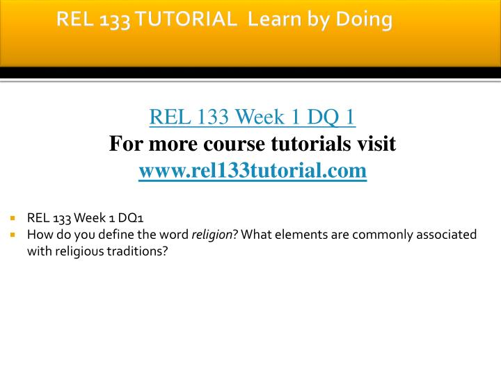 Rel 133 tutorial learn by doing1