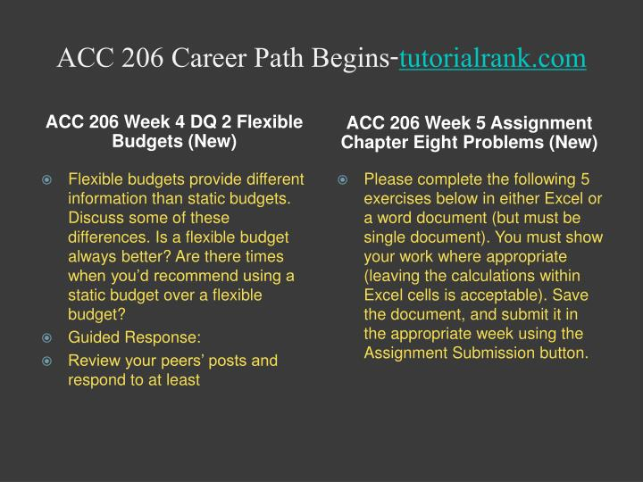 ACC 206 Career Path Begins-