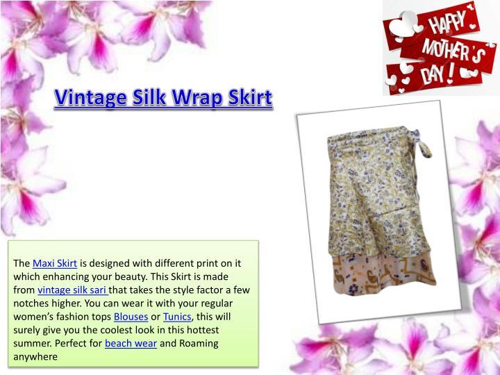 Vintage Silk Wrap Skirt