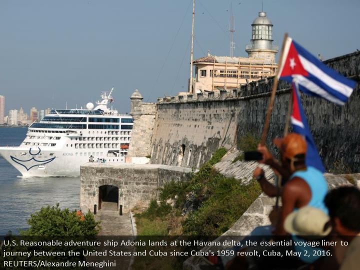 U.S. Carnival cruise ship Adonia arrives at the Havana bay, the first cruise liner to sail between t...
