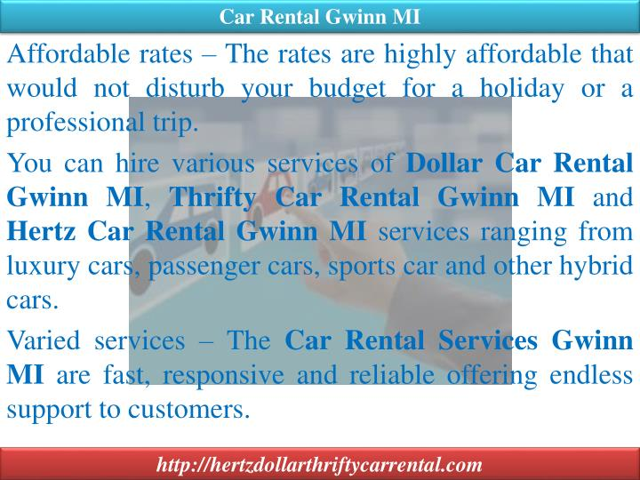 Car Rental Gwinn MI