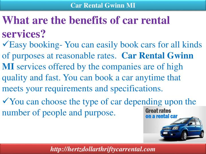 What are the benefits of car rental services