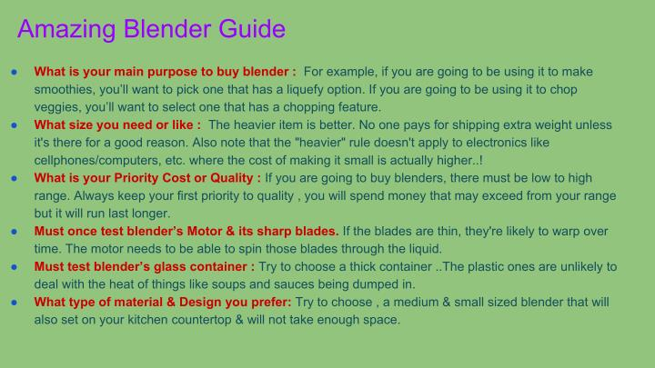 Amazing Blender Guide