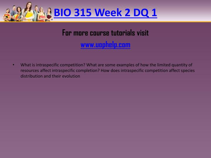 BIO 315 Week 2 DQ