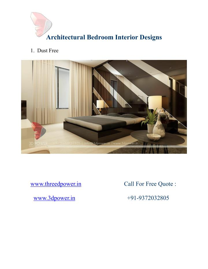 Architectural Bedroom Interior Designs