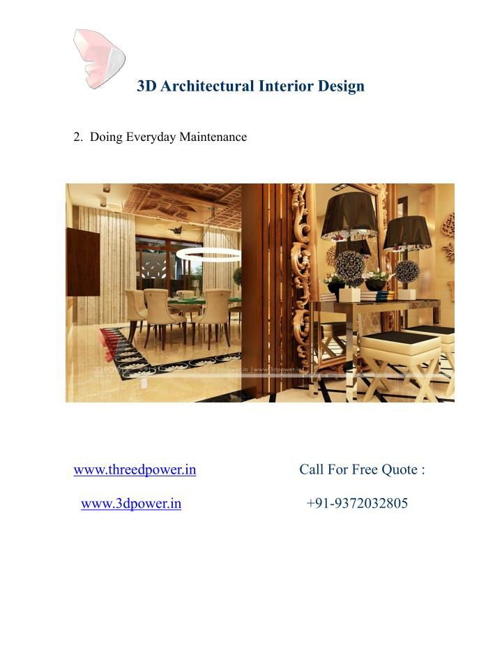 3DArchitectural Interior Design