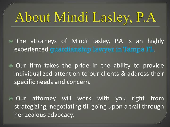 About Mindi Lasley, P.A