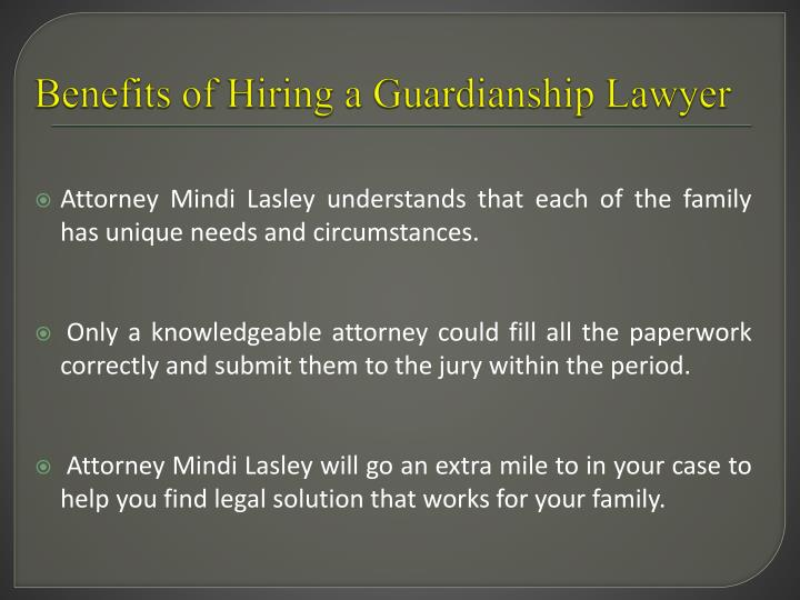 Benefits of Hiring a Guardianship Lawyer