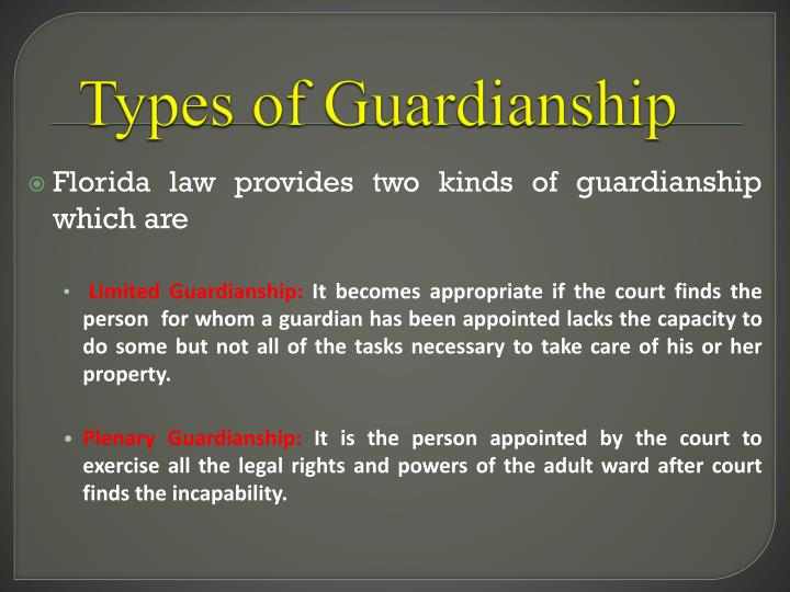 Types of Guardianship
