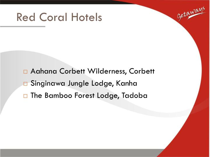 Red coral hotels