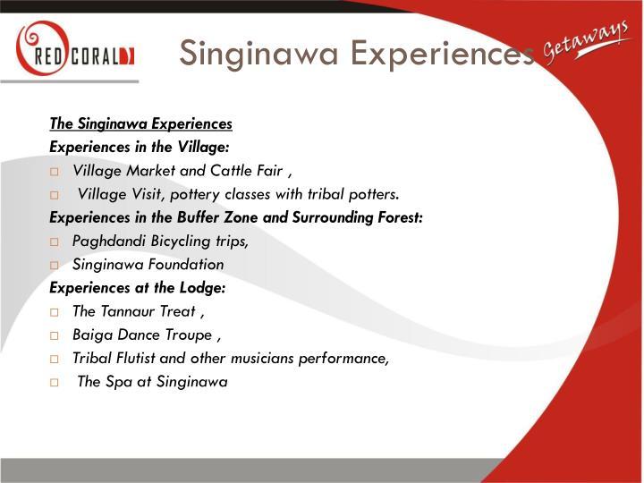 Singinawa Experiences