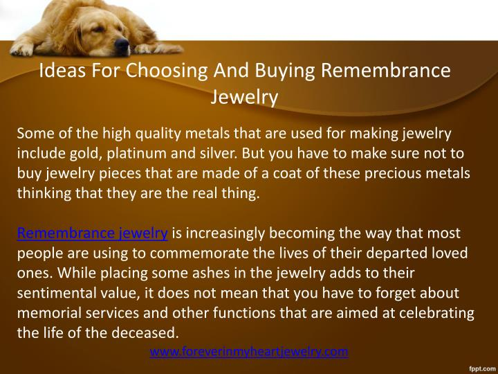 Ideas For Choosing And Buying Remembrance Jewelry