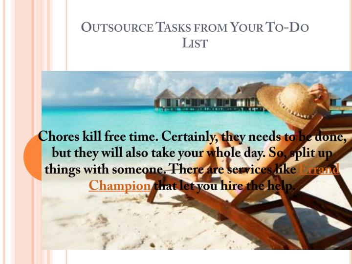 Outsource Tasks from Your To-Do List