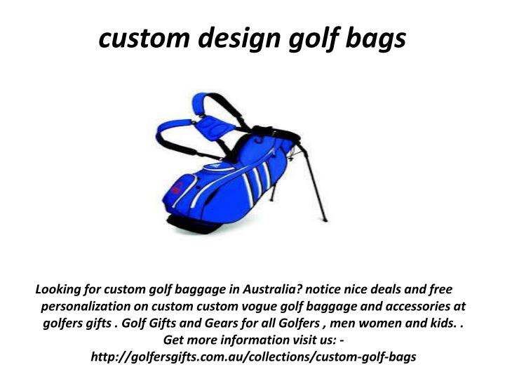 custom design golf bags