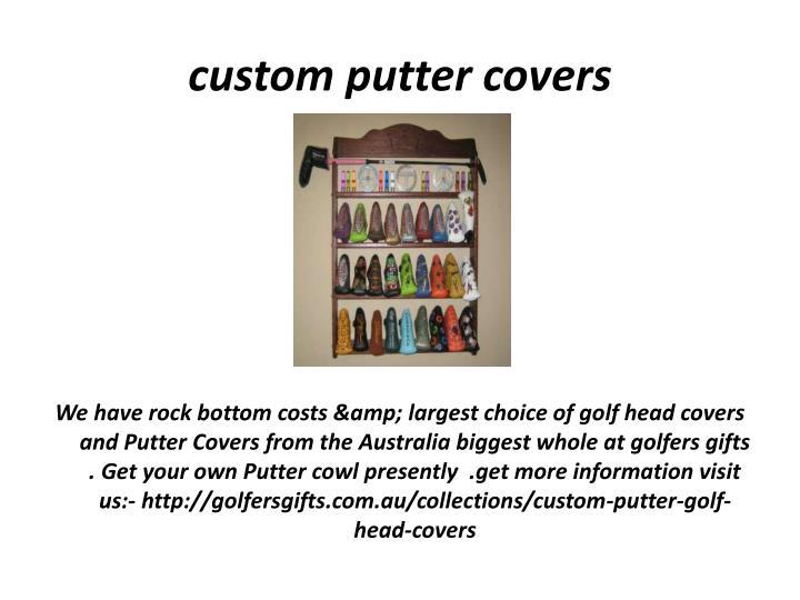 custom putter covers