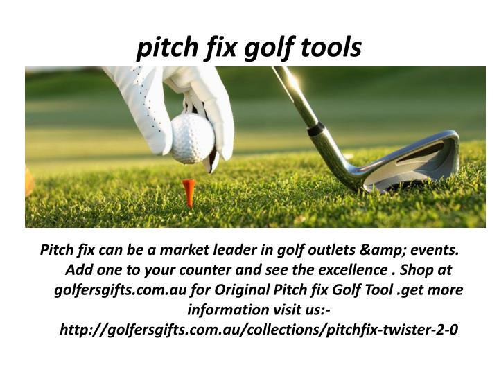 pitch fix golf tools