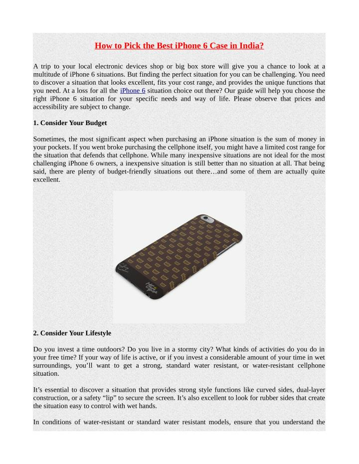 How to Pick the Best iPhone 6 Case in India?