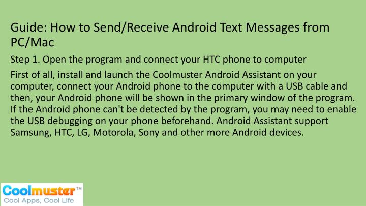 Guide: How to Send/Receive Android Text Messages from PC/Mac
