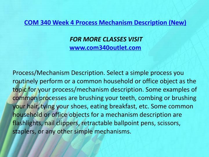 COM 340 Week 4 Process Mechanism Description (New)
