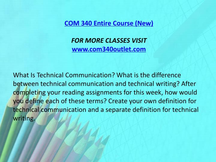 COM 340 Entire Course (New)