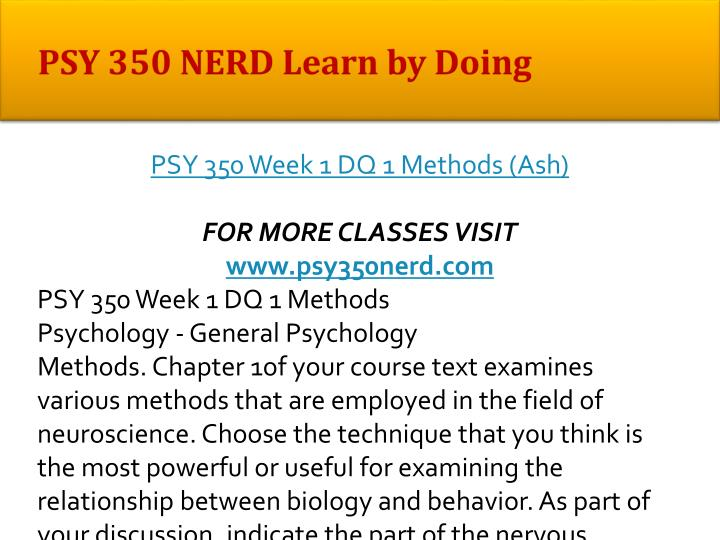 Psy 350 nerd learn by doing1
