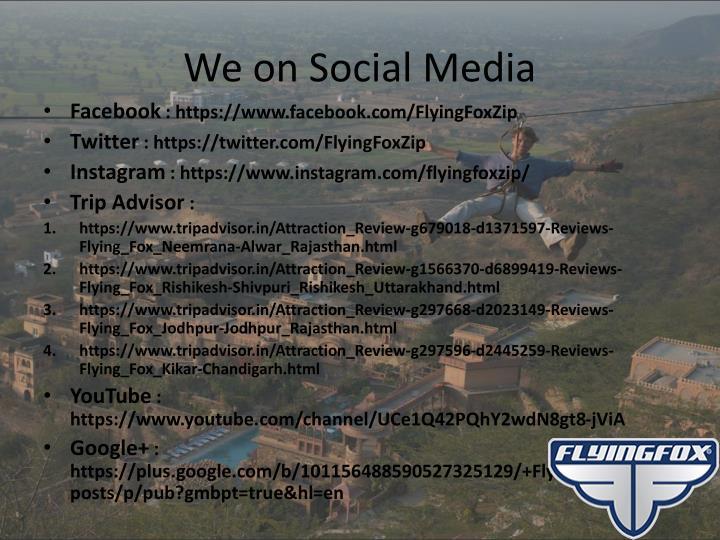 We on Social Media