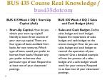 bus 435 course real knowledge bus435dotcom6