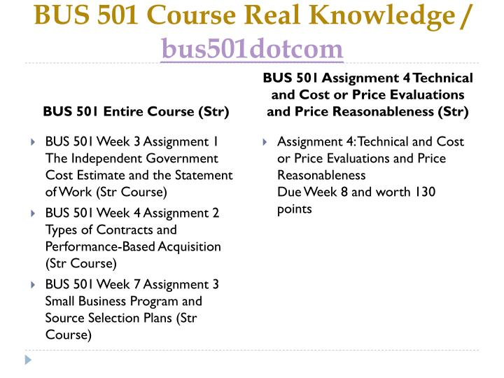 Bus 501 course real knowledge bus501dotcom1