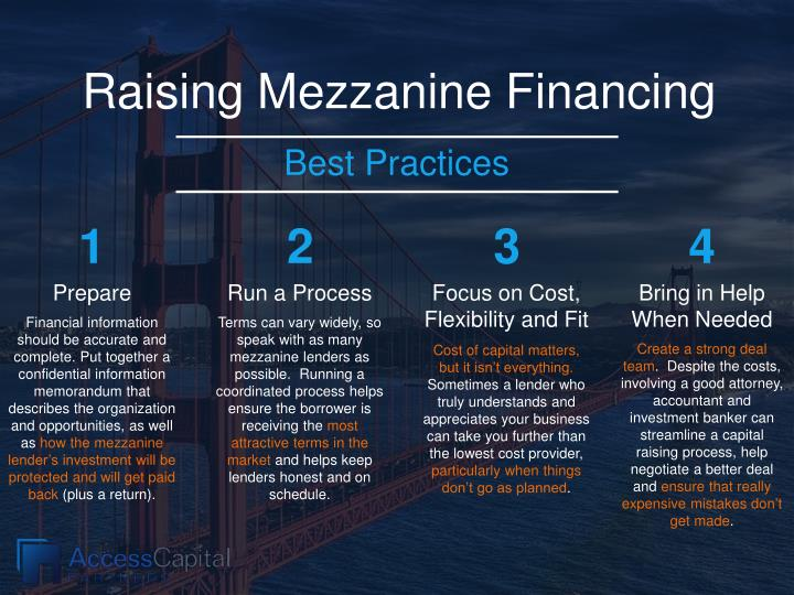 Raising Mezzanine Financing