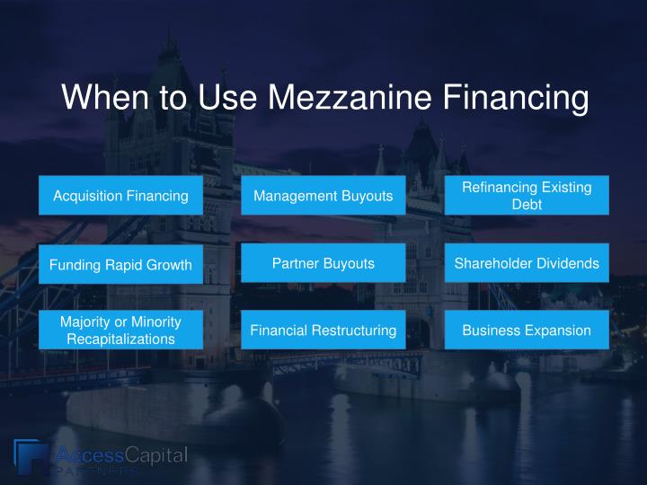When to Use Mezzanine Financing