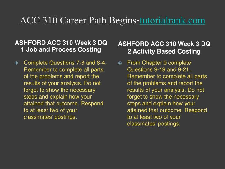 ACC 310 Career Path Begins-