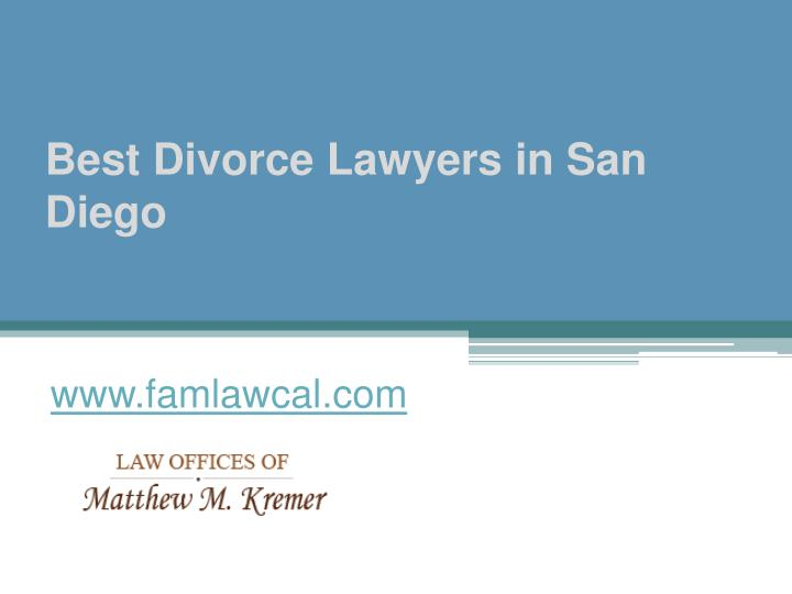 Best divorce lawyers in san diego