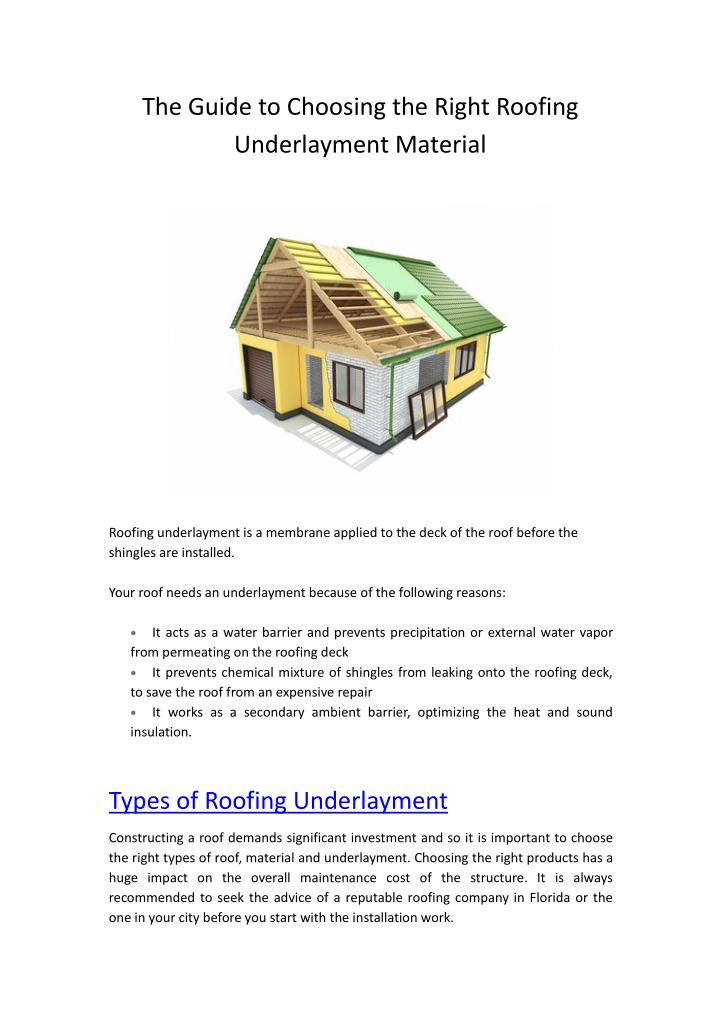The Guide to Choosing the Right Roofing