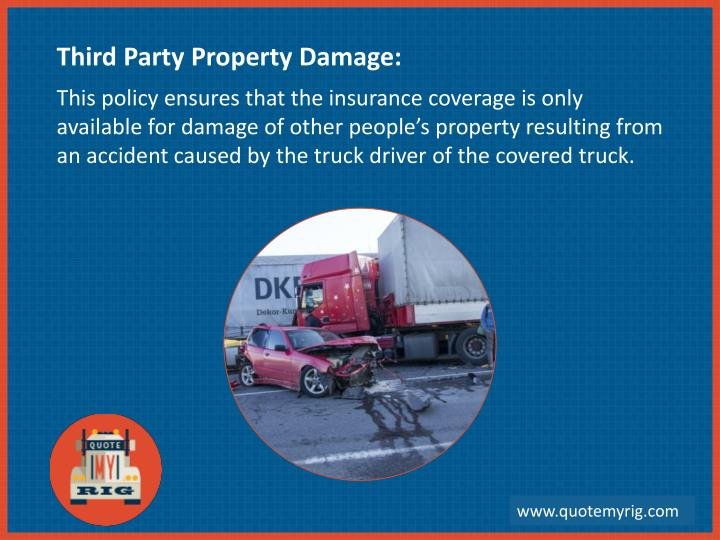Third Party Property Damage: