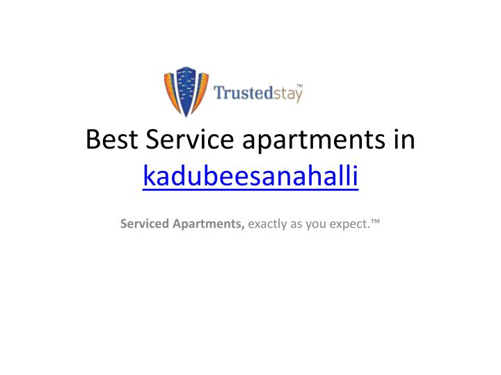 Best Service apartments in