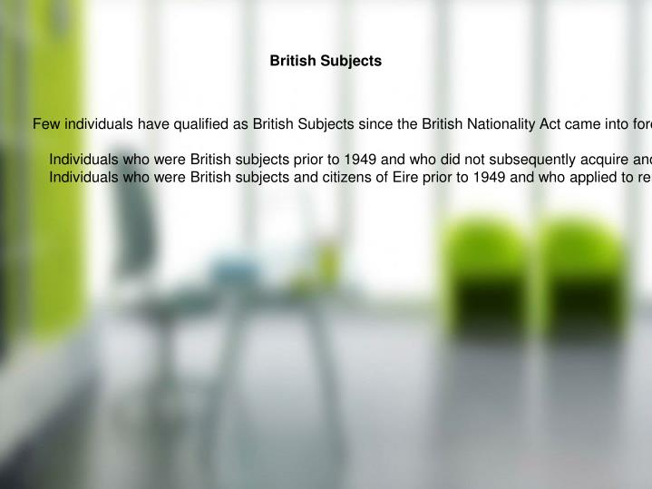 British Subjects