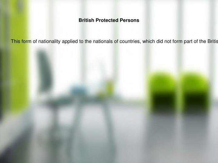 British Protected Persons
