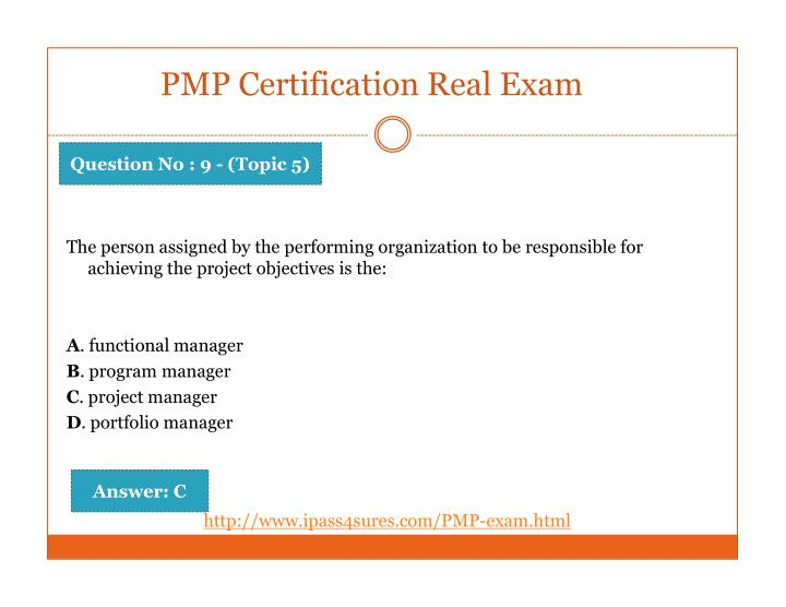 PMP Certification Real Exam