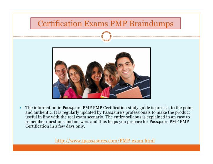 Certification Exams PMP Braindumps