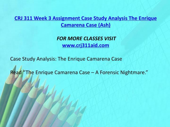 CRJ 311 Week 3 Assignment Case Study Analysis The Enrique Camarena Case (Ash)